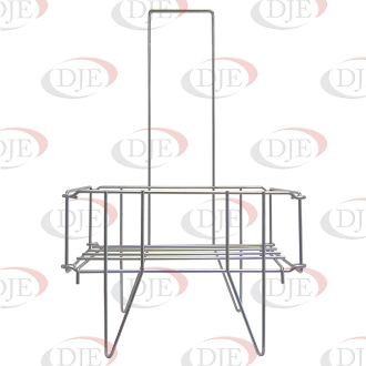 Metal Shopping Basket Stand - Chrome