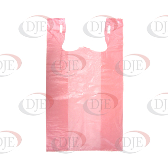 Box Of Plastic Shopping Bags - Pink